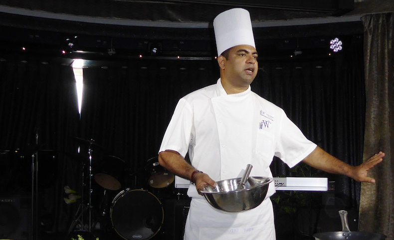 Chef Stany prepares the marinade for his Chicken Tikka