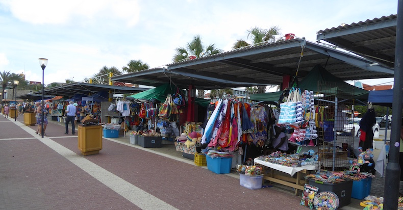 Local vendors selling souvenirs
