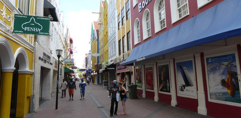 A shopping street in Willemstad