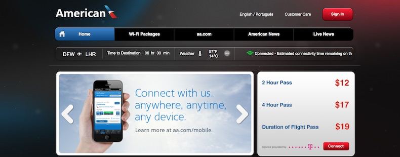 WiFi service available on 777-300