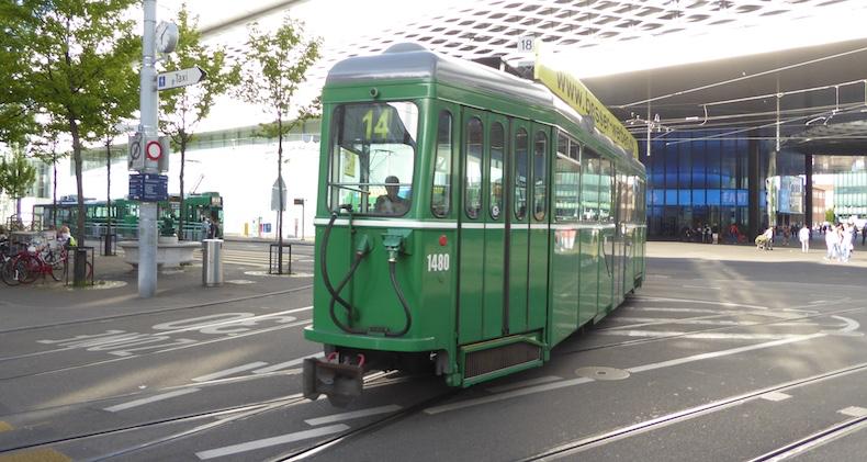 Tram in Basel, Switzerland