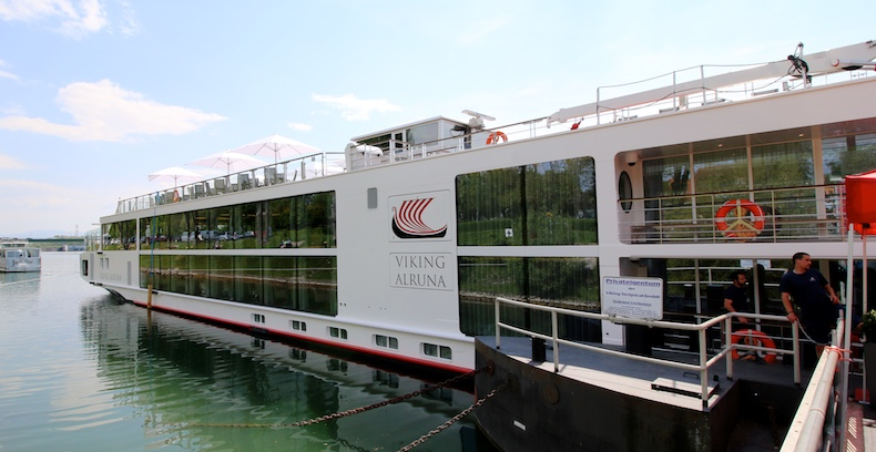 Viking Longship Alruna docked in Breisach, Germany