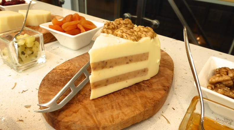 An interesting walnut cheese at the wine and cheese tasting