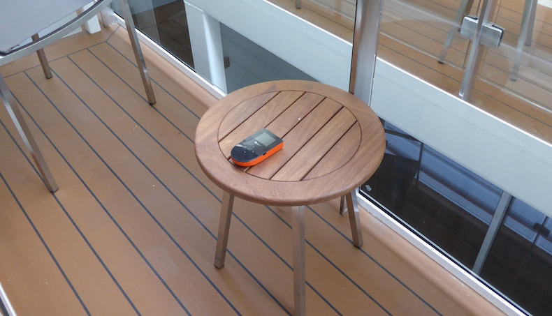 Skyroam connected instantly when placed on balcony