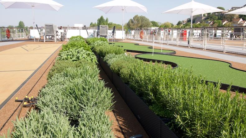 Herb garden on Alruna's sun deck