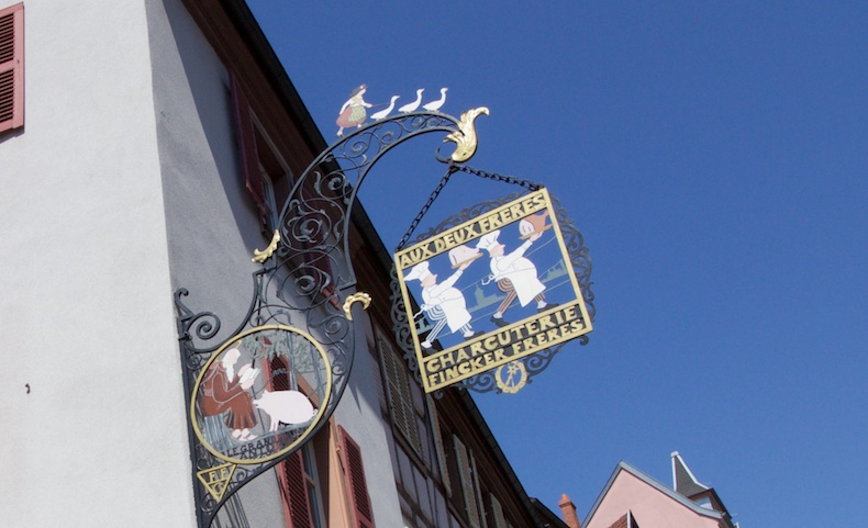 Example of a Hansi sign for a local butcher shop