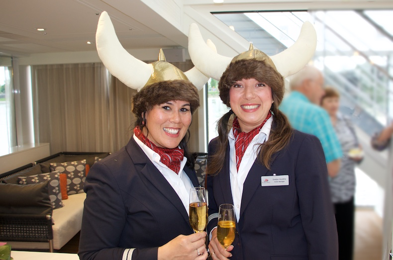 Dewi (Program Director) and Evelyn (Hotel Director) greet repeat guests