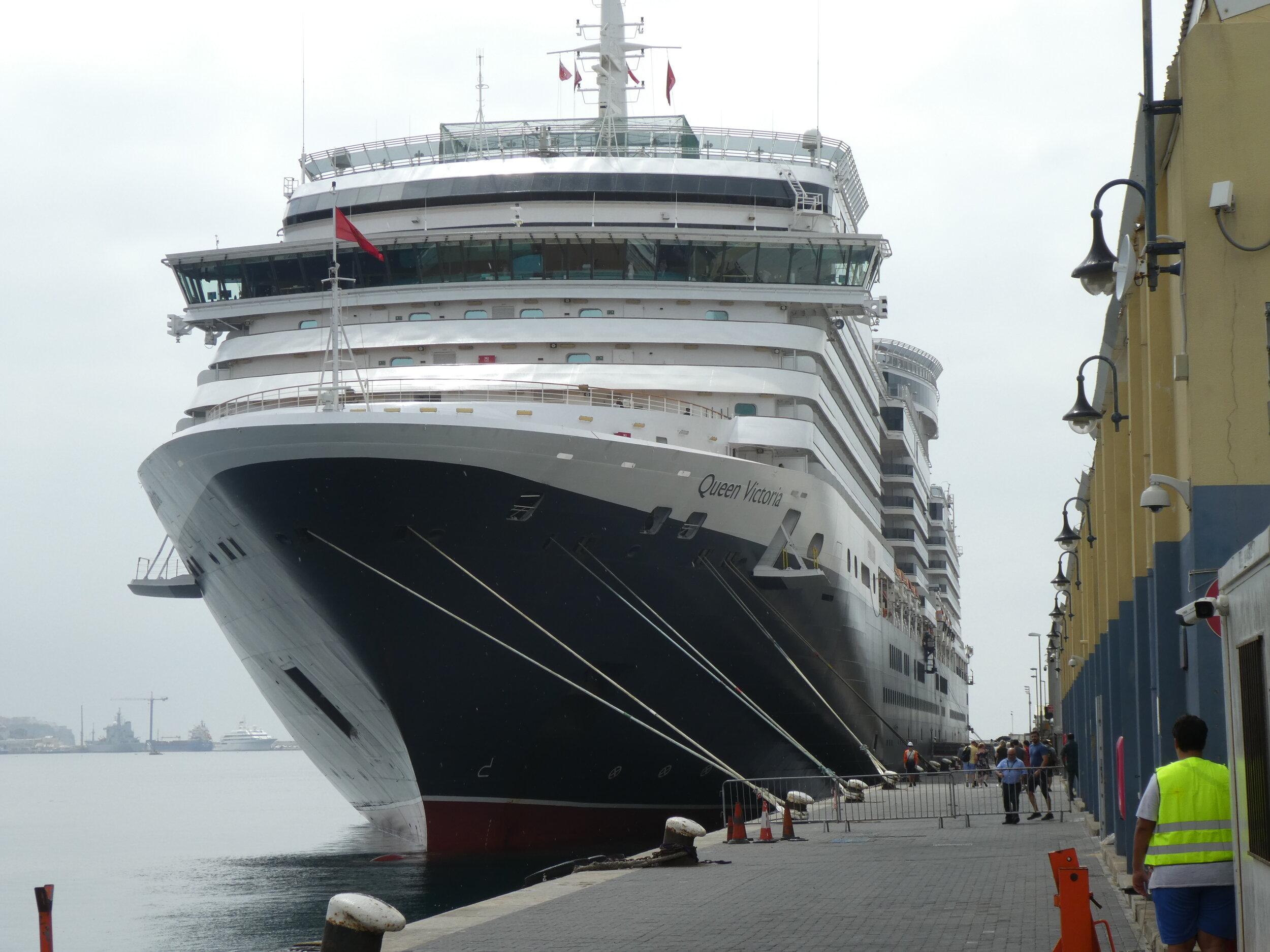 Queen Victoria Docked in Gibraltar
