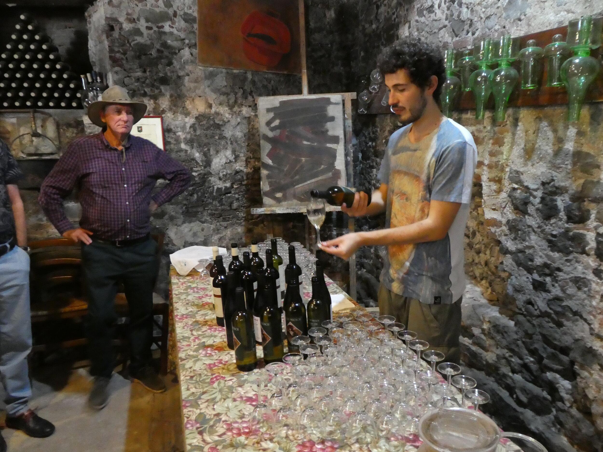 Italian Wine Samples in 17th Century Farmhouse