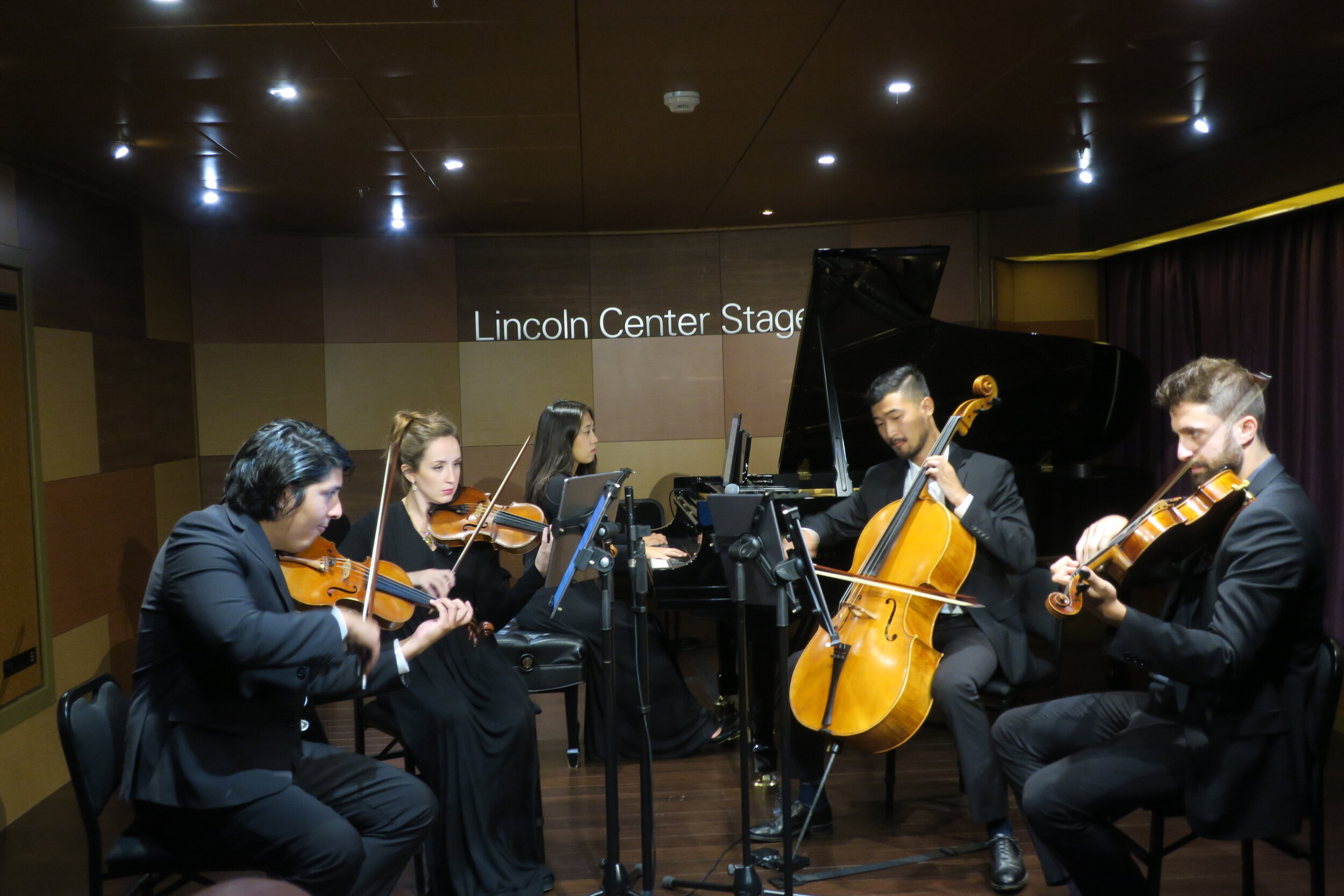 A dynamic quintet perform at Lincoln Center Stage.