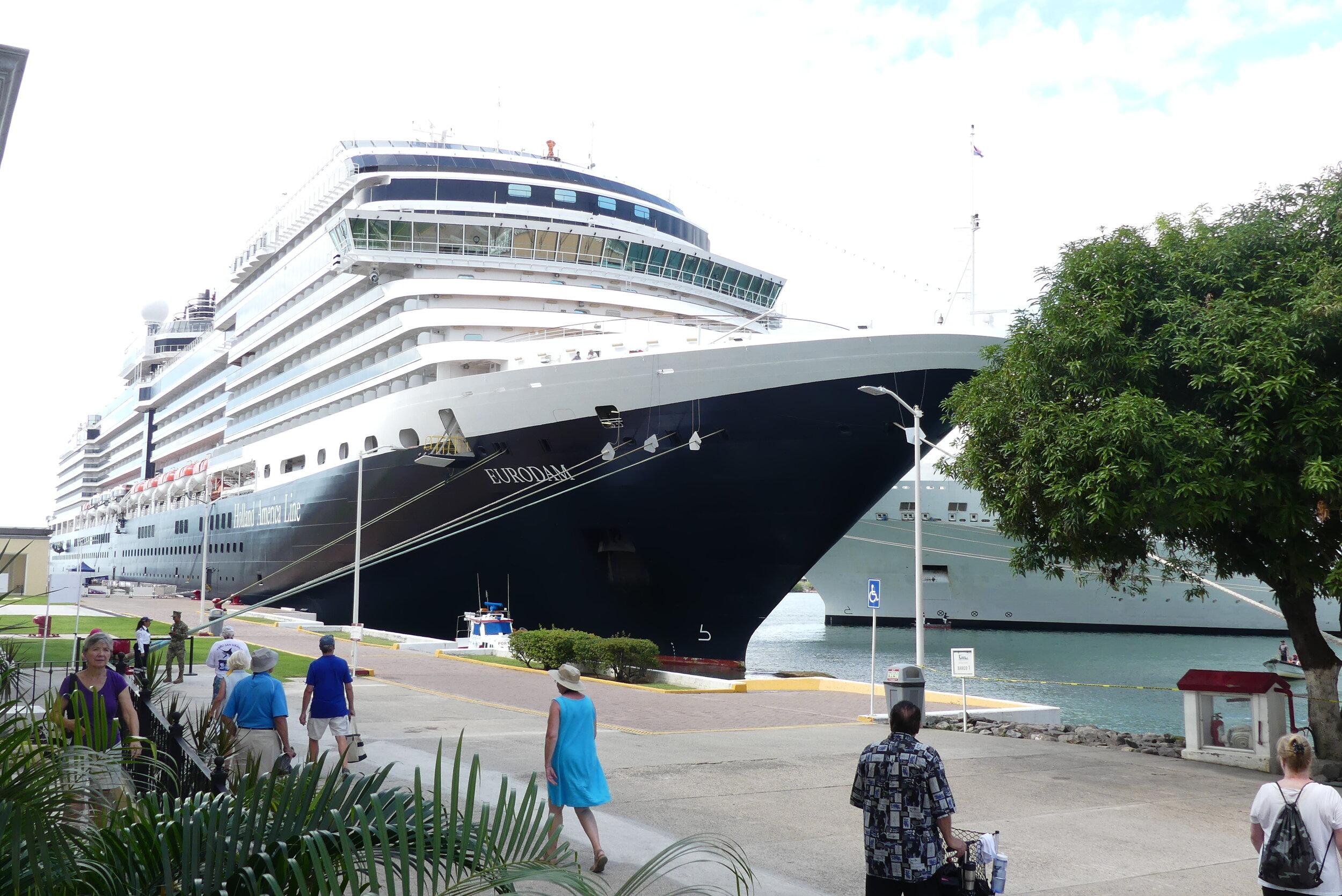 Eurodam Docked in Puerto Vallarta.