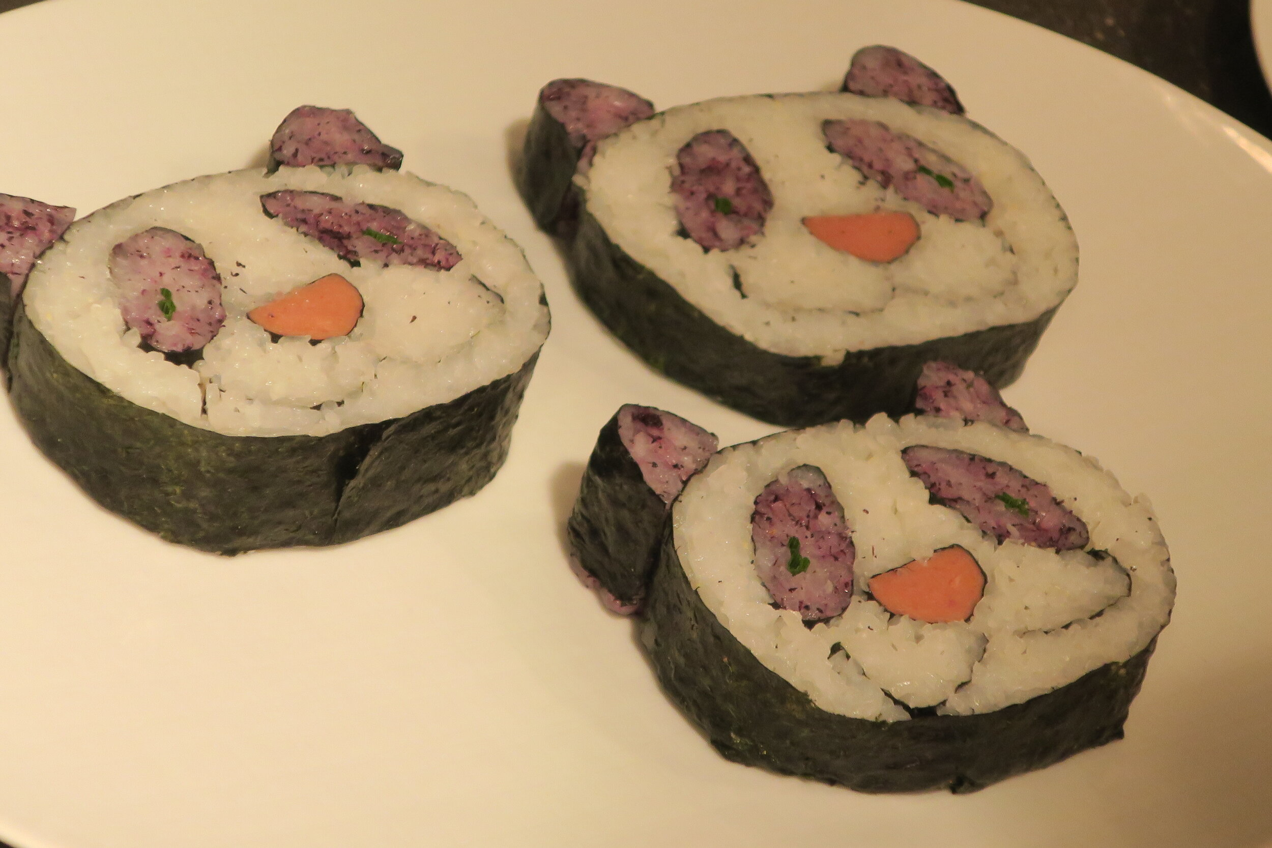 Panda Sushi. Created by Chef Andy.