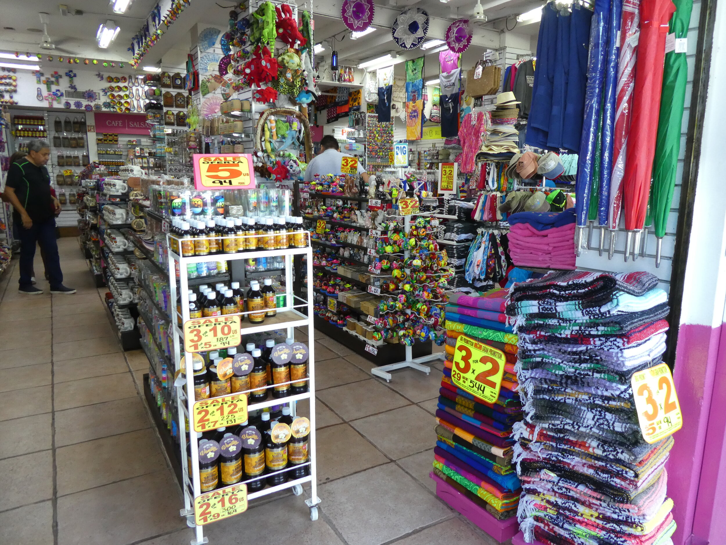 Colorful Souvenir Shops in all Mexican towns.