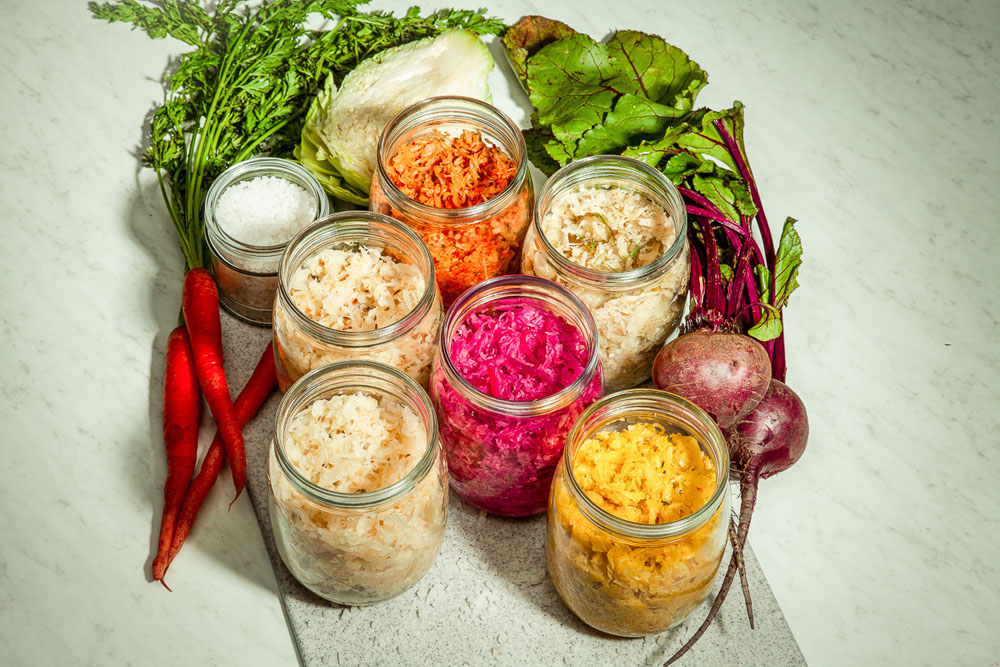 We are the fermentation experts. - We transform our cabbage into something delicious and probiotic-rich called Kraut (aka Sauerkraut) using recipes by our founder and chef, Kathryn.