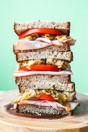 Stack it on a sandwich