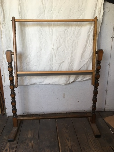 """Embroidery Frame with Stand, 19"""" x 29"""", $20."""