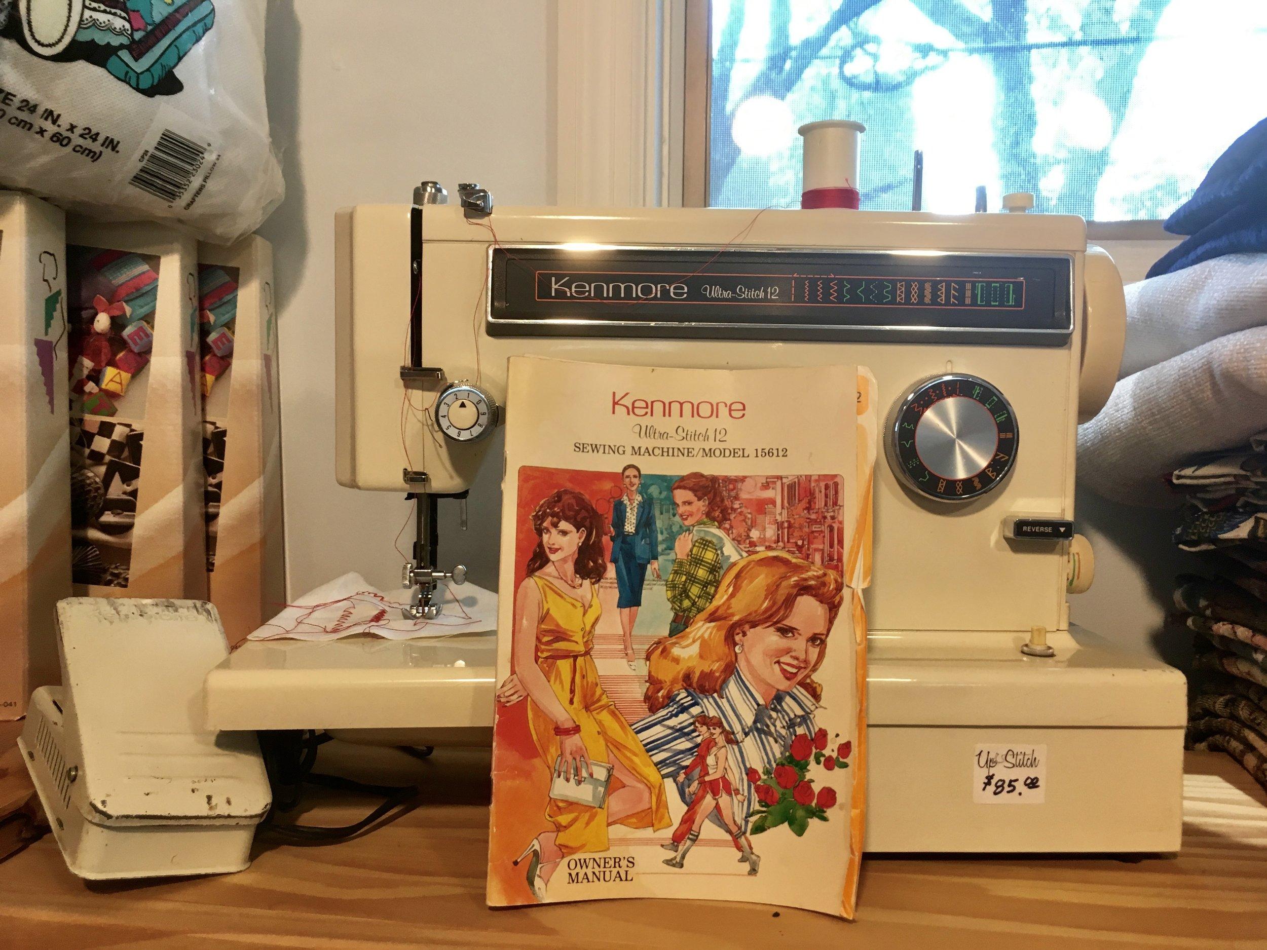 Kenmore Ultra-Stitch 12 Sewing Machine Model 15612, $85.