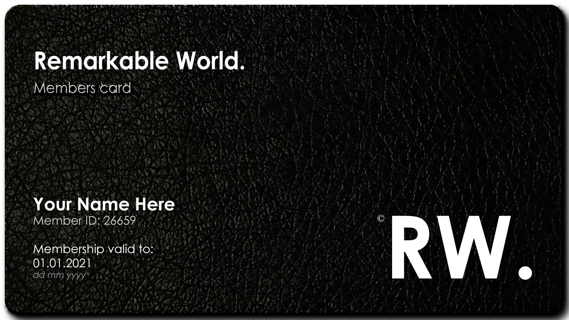 - Member's Card is by invitation only.✓ One Year Membership✓ Access to RW. App✓ Guest-speaker RW. breakfast events hosted by key individuals at the top of their industry✓ RW. lunches in Stockholm and other key Nordic and European cities✓ RW. events & Take-overs✓ Thought Leadership breakfast events hosted by entrepreneurs (females only)✓ Access to our Private LinkedIn Group✓ Weekly Newsletter✓ Access Exclusive Offers & Experiences✓ Gala invitation