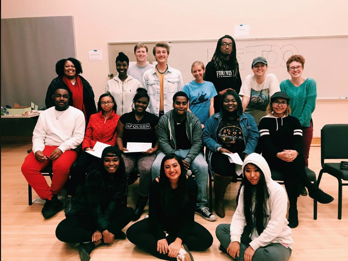 Workshop Leader Jacqueline Lawton and Co-Director Ruthie Allen with Some of the 2018 Cast