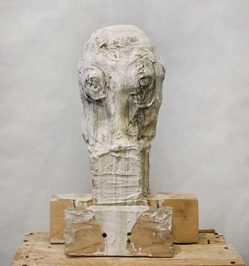 "Trophy , 18 x 12 x 9"", reclaimed wood, hardware, polymer gypsum, aluminum foil, acrylic, oil, 2013"