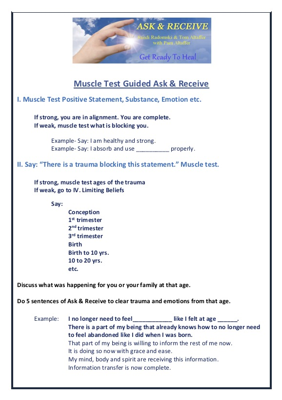 Guide: Muscle Test Guided Ask & Receive (PDF)