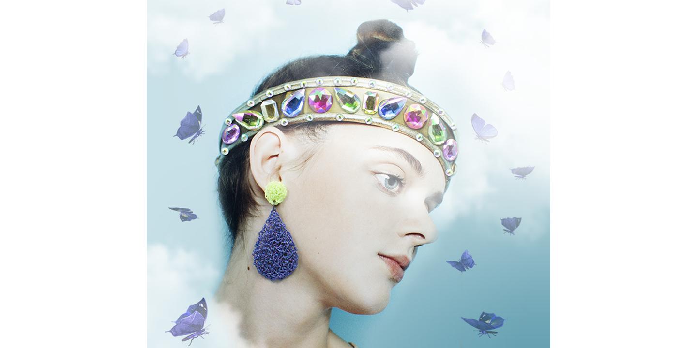 Peacock Shock Med Teardrop Earrings
