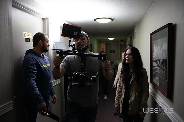 @thejonblizzard workin' that @thecitymotel 's hallway on the set of When We Were Young. So grateful to @thecitymotel who were amazing to work with and accommodated our cast and crew wonderfully with free(!) coffee. 📷 : @garysweekes  #shortfilm #filmmaking #cinematography #moviescenes #setlife #bts