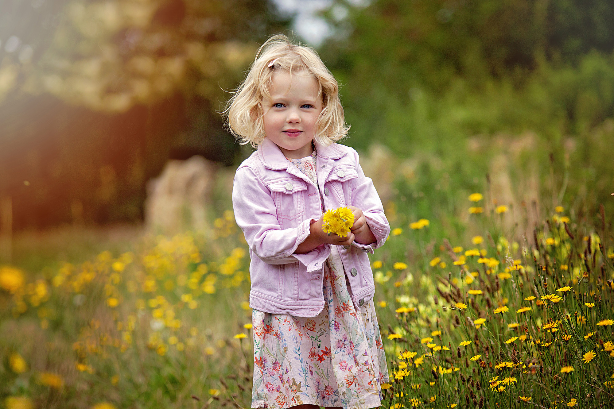 Timeless images in summer's wildflower meadows - The children are off school and need to blow off steam. Let me wear them out for you!