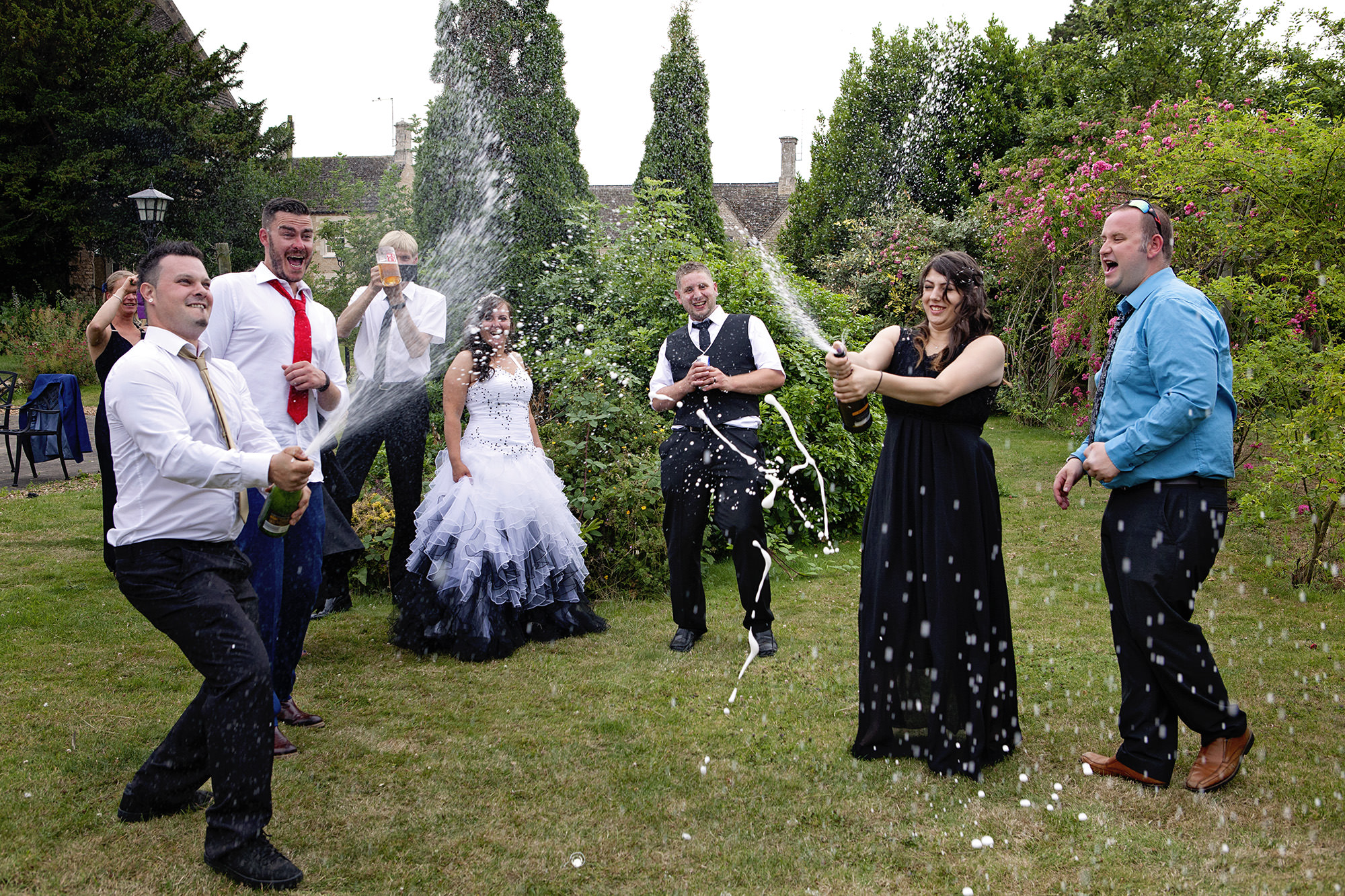 I bring two bottles to every wedding… - To jazz up the group photographs I have more tricks than a tap dancing weasel!