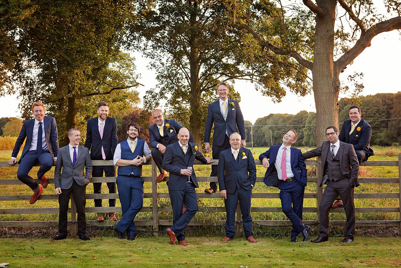 Fun groomsmen wedding photography