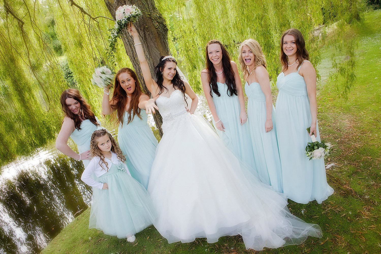 Bridesmaids rocking it hard!