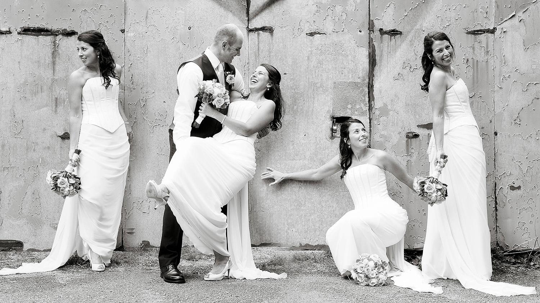 Composite wedding photography