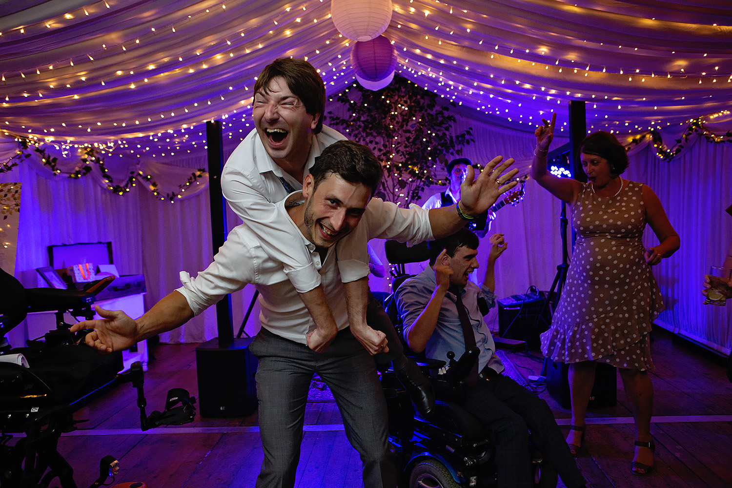 Disability wedding dancing