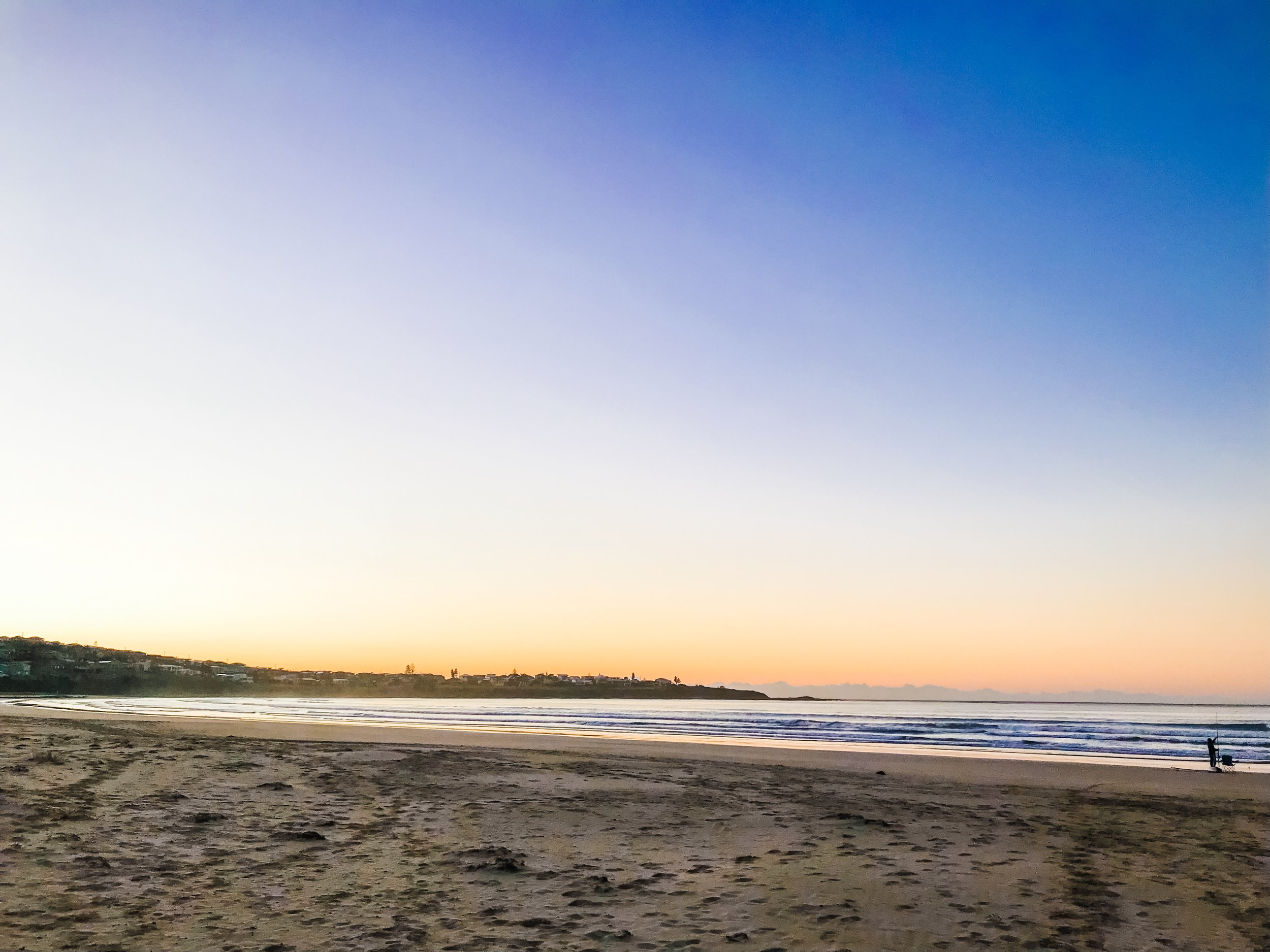 Sunrise on 7 mile beach (why miles and not km, the world may never know).