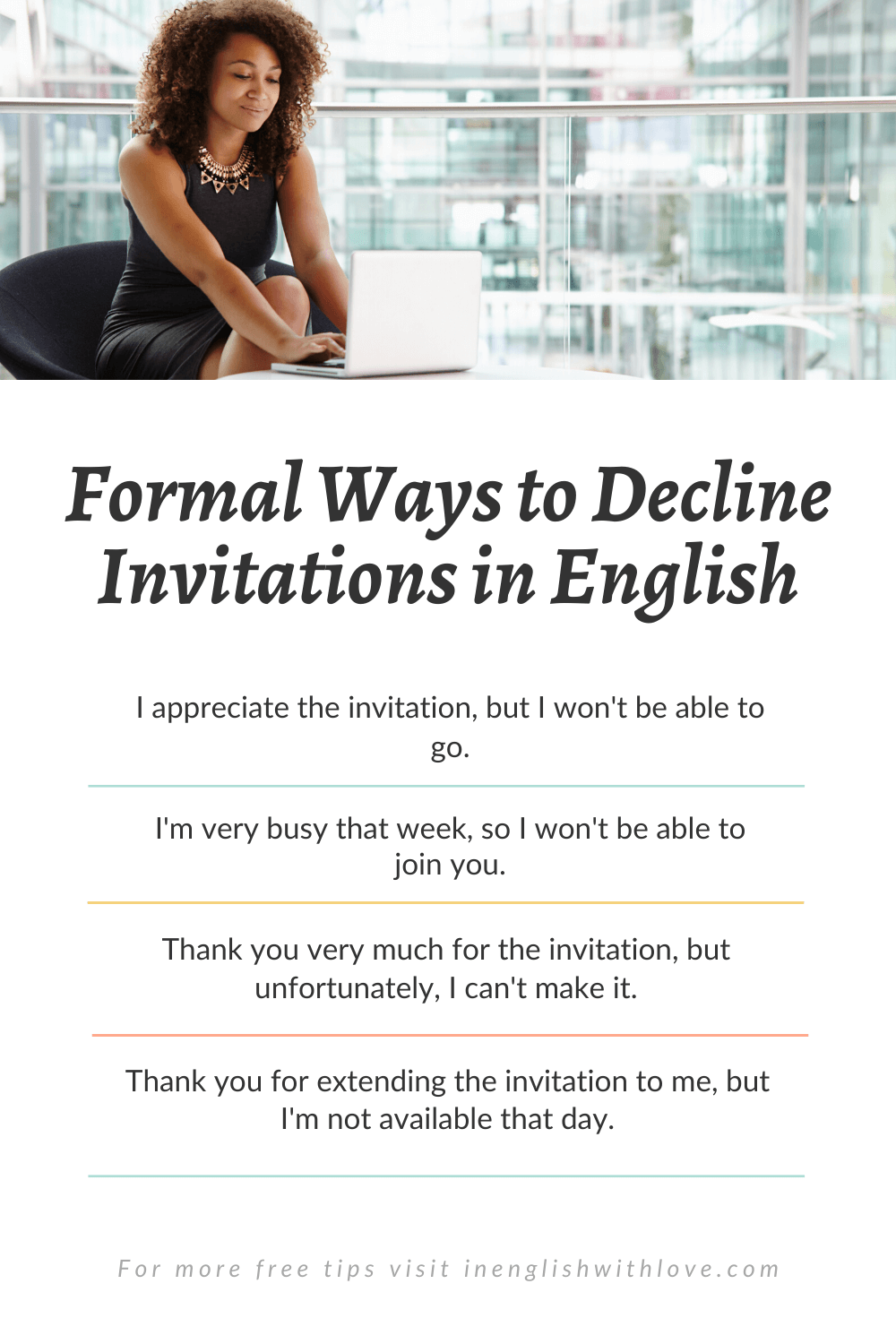 How to Decline an Invitation in English — In English With Love