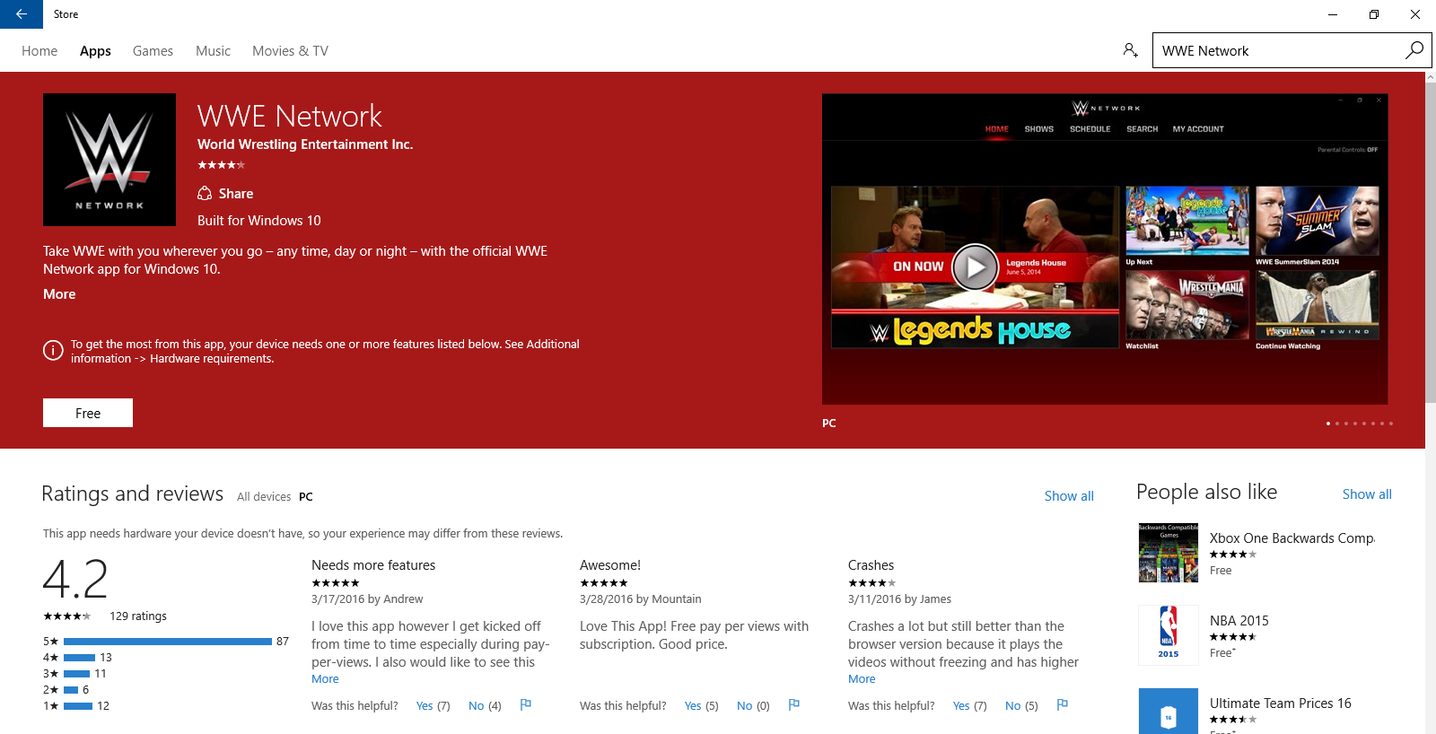 Windows Store Screenshot WWE.PNG