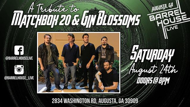Just Announced!! Reserve your tickets to see Matchbox 2.0: A Tribute to Matchbox 20, coming August 24th! Tickets available at BigTickets.com for only $5 in advance!!