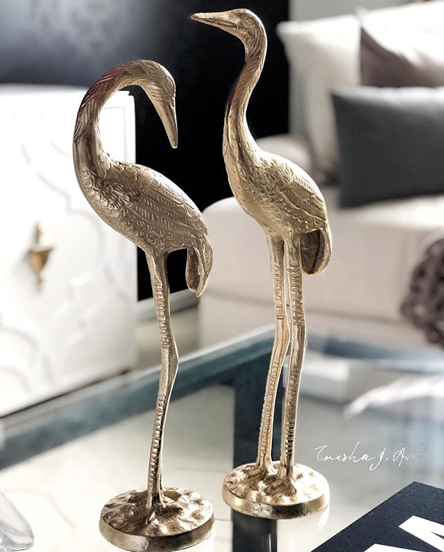 What day is it? Hump Day! I got my 2 flamingos I purchased on Amazon! They definitely add interest to my coffee table decor. Click on the link in my bio to view details on the flamingos. . . . . . . . . . . . . . . . . . . . . #homeaccessories  #diyhomedecor #diydecorideas #diytutorial #diyproject #diyhomeprojects #diyhomedecor #house #home #decor #interior  #coffeetable #homedecor #coffeetabledecor #creative #interiorstyling #decorating #decorationideas