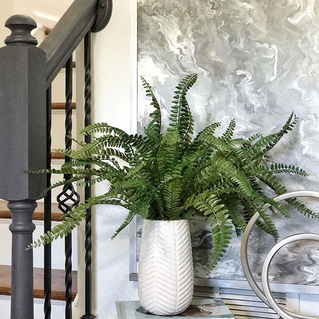 I love adding faux greenery throughout my home because it's easy to decorate with and can make beautiful decor all year round. I like to go to the clearance section at Michaels or At Home to see if I can catch a deal. I purchased the greenery for $12 and the vase for $5. Do you check the clearance section first when you go to the store? . . . . . . . . . . . . . . . . . . . . #homeaccessories  #diyhomedecor #diydecorideas #vase #tabledecor #tabledecorations #coffeetabledecor #home #decor #interiordecorating  #greenery #homedecor  #interiorstyling #decorating #decorationideas