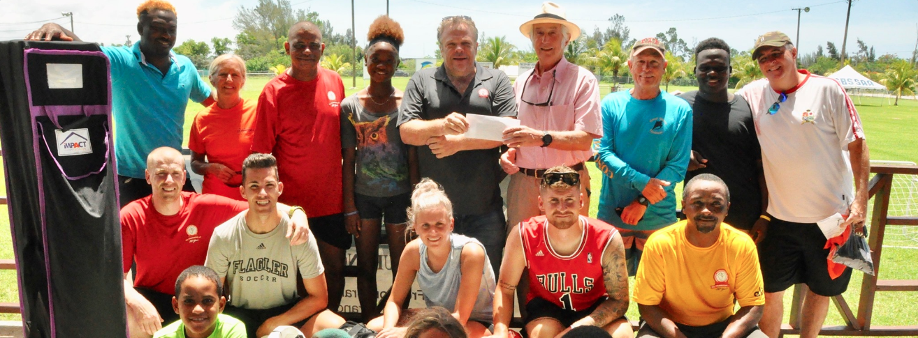 GBPA Conchman Triathlon Makes donation to the Freeport Rugby Football Club