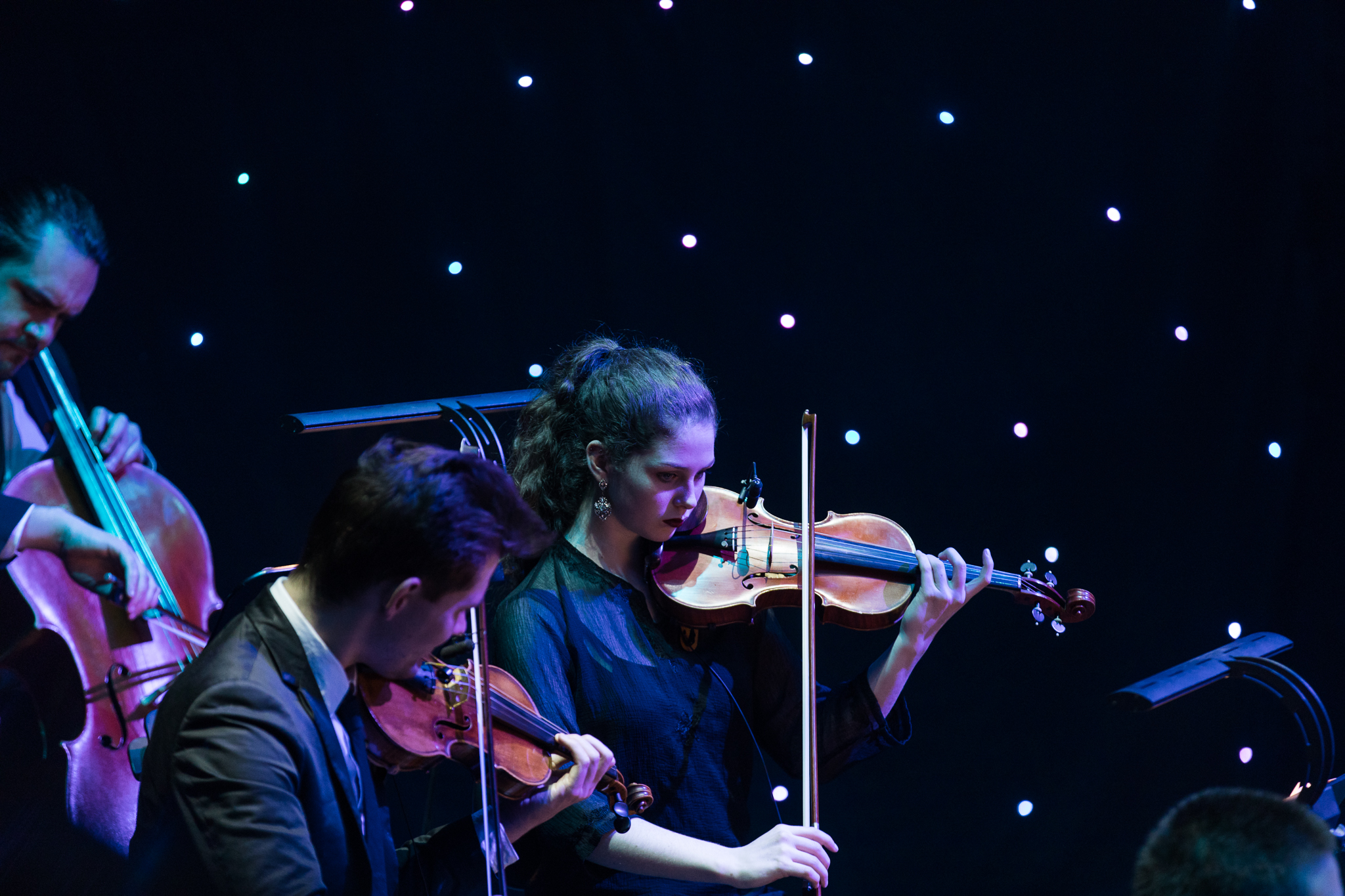 Young at heart orchestra playing violin