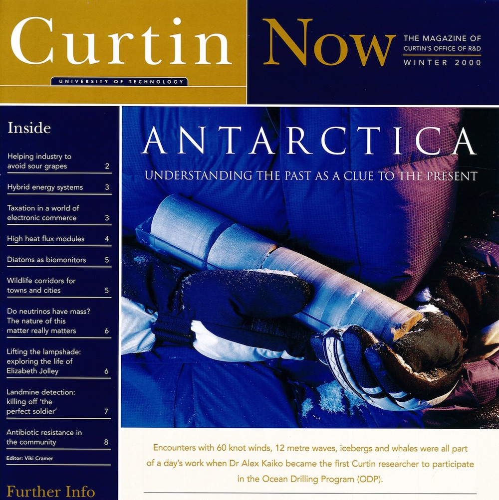 Curtin Now - OFFICE OF RESEARCH AND DEVELOPMENT, CURTIN UNIVERSITY | 2000I wrote all of the stories in this magazine on research in both the sciences and humanities at Curtin.