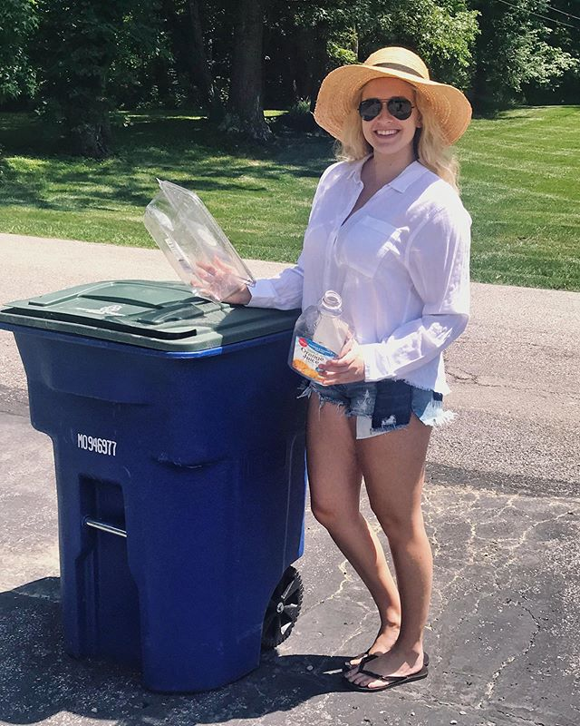 "Recycling isn't always as cut and dry as it might seem. Did you know there are some basic rules you need to follow or else you're actually risking contamination of the whole load?! - ♻️ Rinse out all of your plastic and aluminum containers (this keeps bugs & sticky messes out of your container too) ♻️ Break down all of your cardboard and paperboard boxes ♻️ Check to see if your recycler will accept LIDS! A lot of places want you to take the screw top off of your plastic beverage containers. - I was shocked at first to hear that l couldn't put beverage tops/lids in my recycling bin. Can you think of any other recycling ""rules"" that surprised you at first? . . . #recyclingideas #reducereuserecyle #doyourpart #fortheplanet #noplanetb #wastemanagement #recyclingrules #sustainablelifestyle #greenlifestyle #environmentalscience #environmentalscientist #womeninstem #scientistlife #theblondebiologist"
