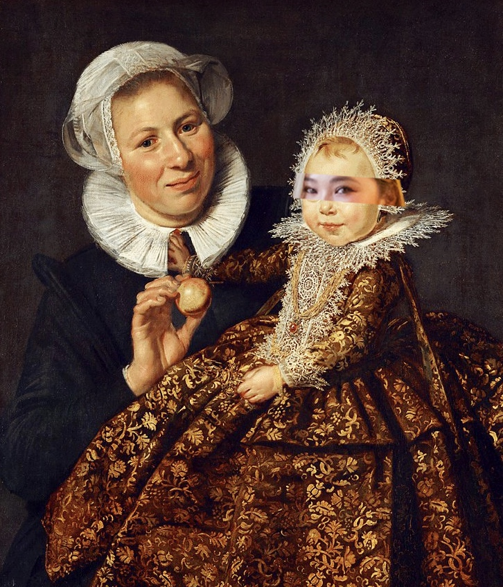 Catherine Hooft And Her Nurse By Frans Hals and ReCreating For #DaisyHFashionshow In Milan By MAÏA @DaisyCode