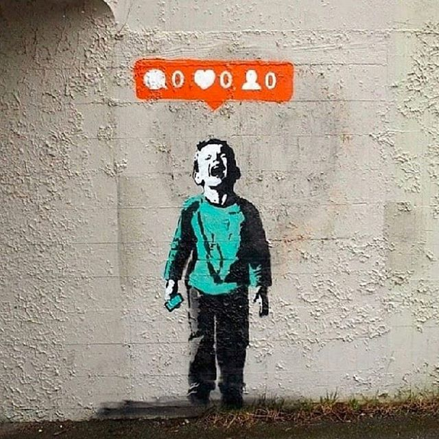 . Are we punished by reward? 🤔 . Find this #streetart picture on #instagram without knowing who's work is it.  If we own you a copyright mention, please do contact us #daisycodeca . Thank you ~ 🍀💛 . . . #daisycodeart #mondaythoughts #art #anxiety #socialanxiety #artwork #daisycodeinspirations
