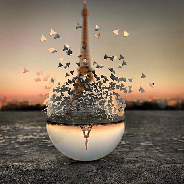 . What a magic voyage in @bagardiefrancois 's crystal wonderland. 🌟 . . . #paris #creativeminds #daisycodeart #daisycodeinspirations #daisycodeca #toureiffel #sacrecoeur #parisstreet #arty
