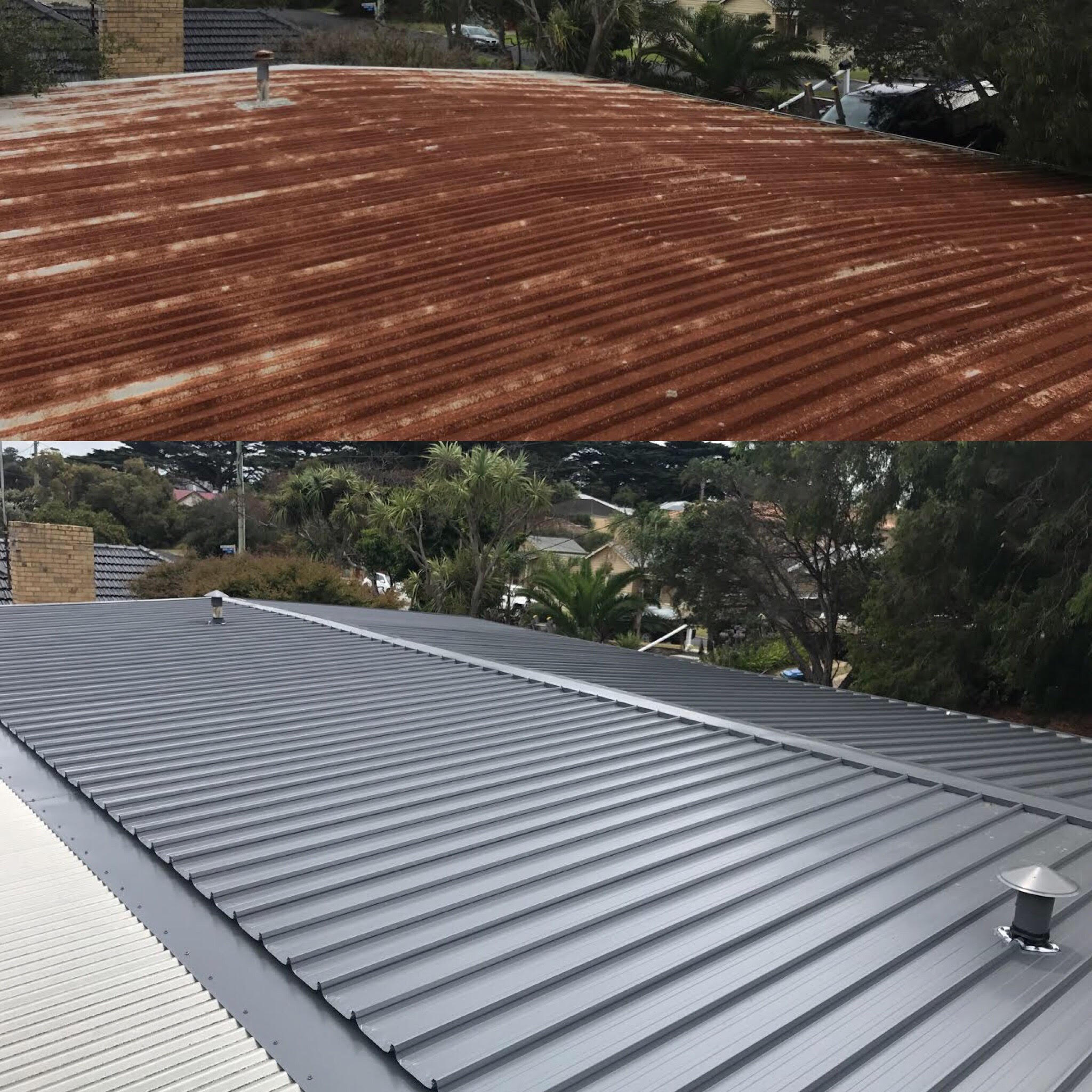 Re-Roofs - If you have a pre-existing tin, tile or asbestos roof, either pitched or flat that appears weathered or outdated and are wanting to give your home that 'new COLORBOND®-look', the team at Metal Roofing Installations are experts in assessing your property and making recommendations accordingly to ensure your roof is of the highest quality whilst being energy efficient, sustainable and durable.