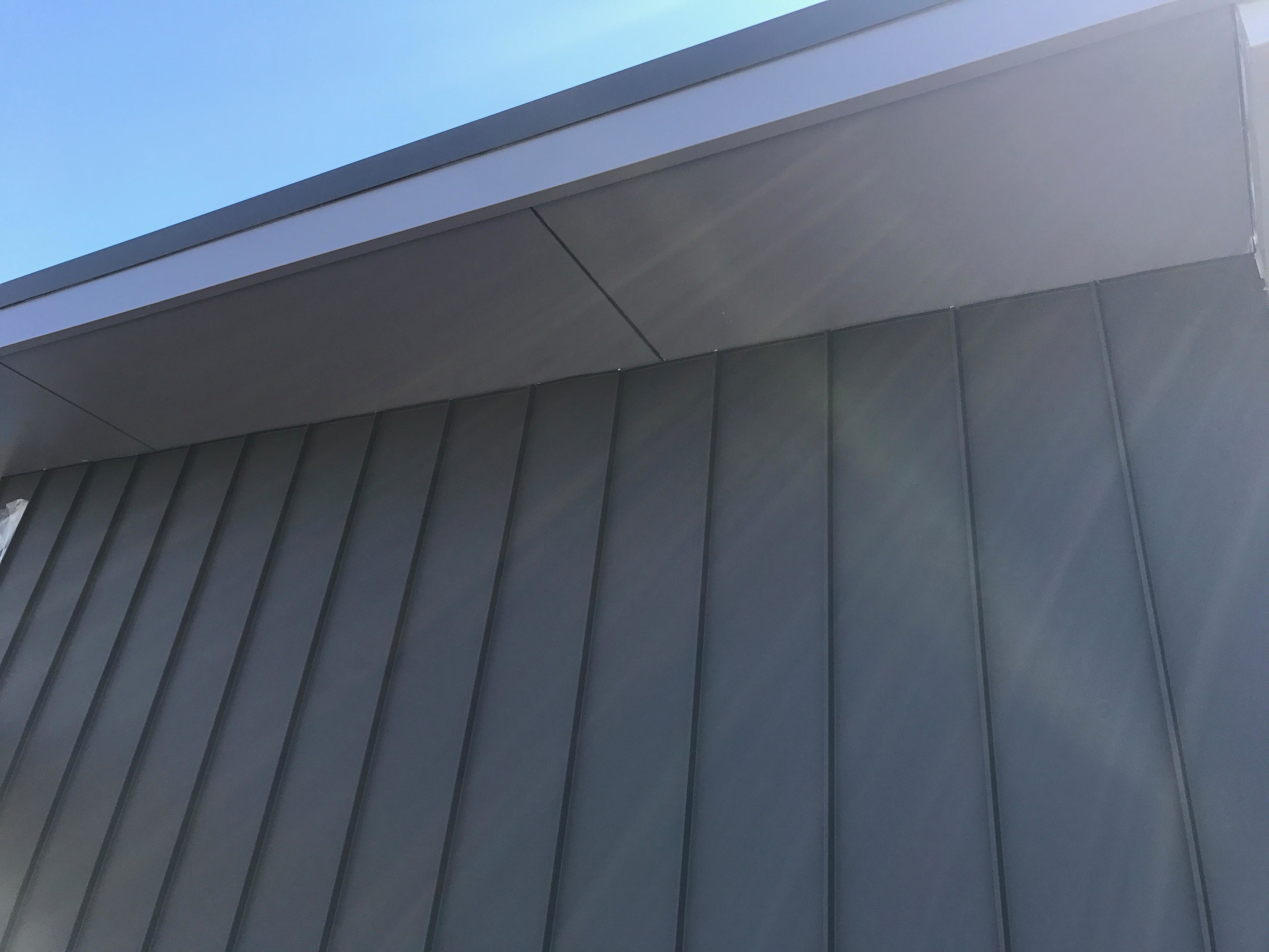 COLORBOND Standing Seam cladding