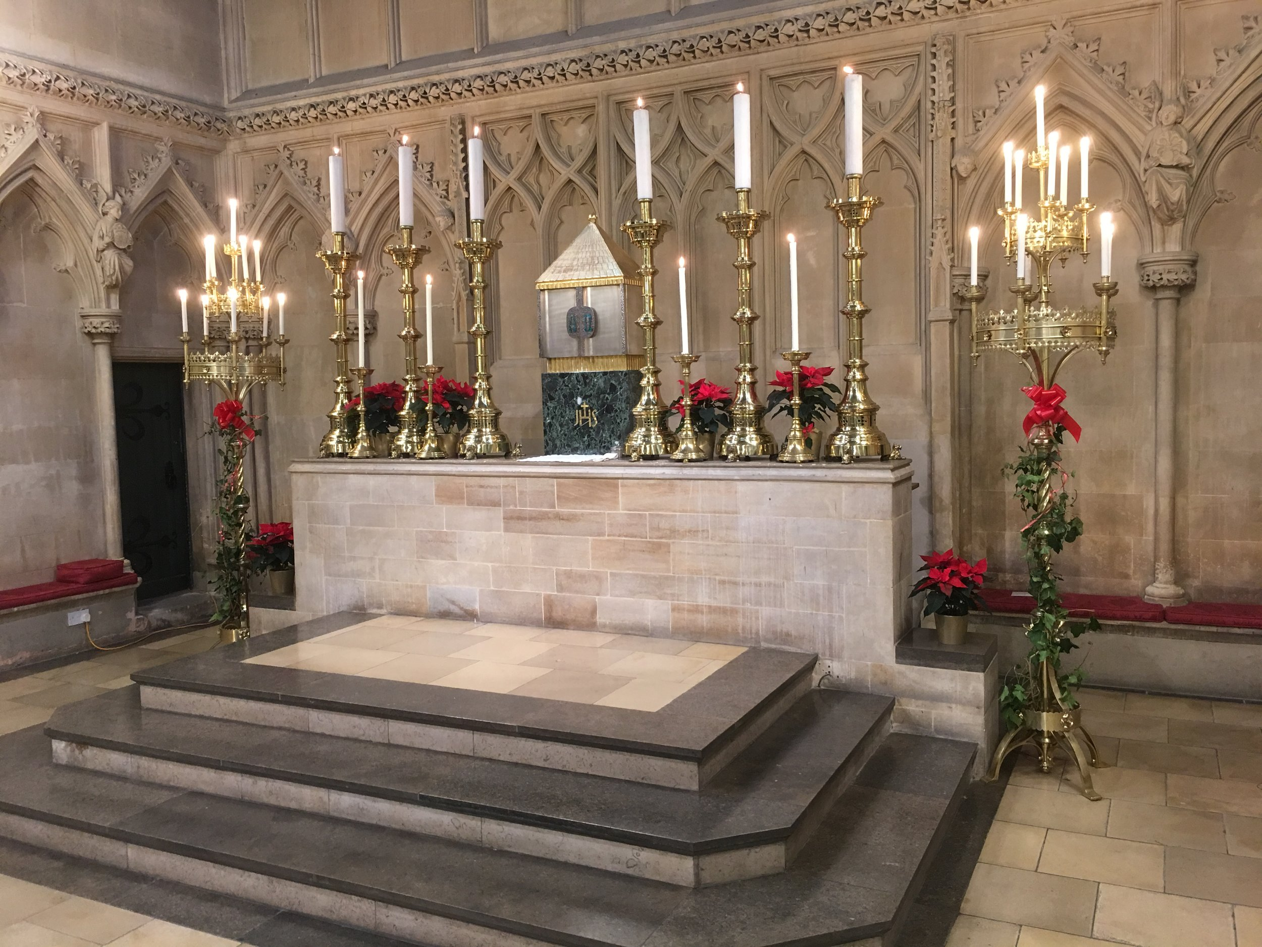 The High Altar at Christmas