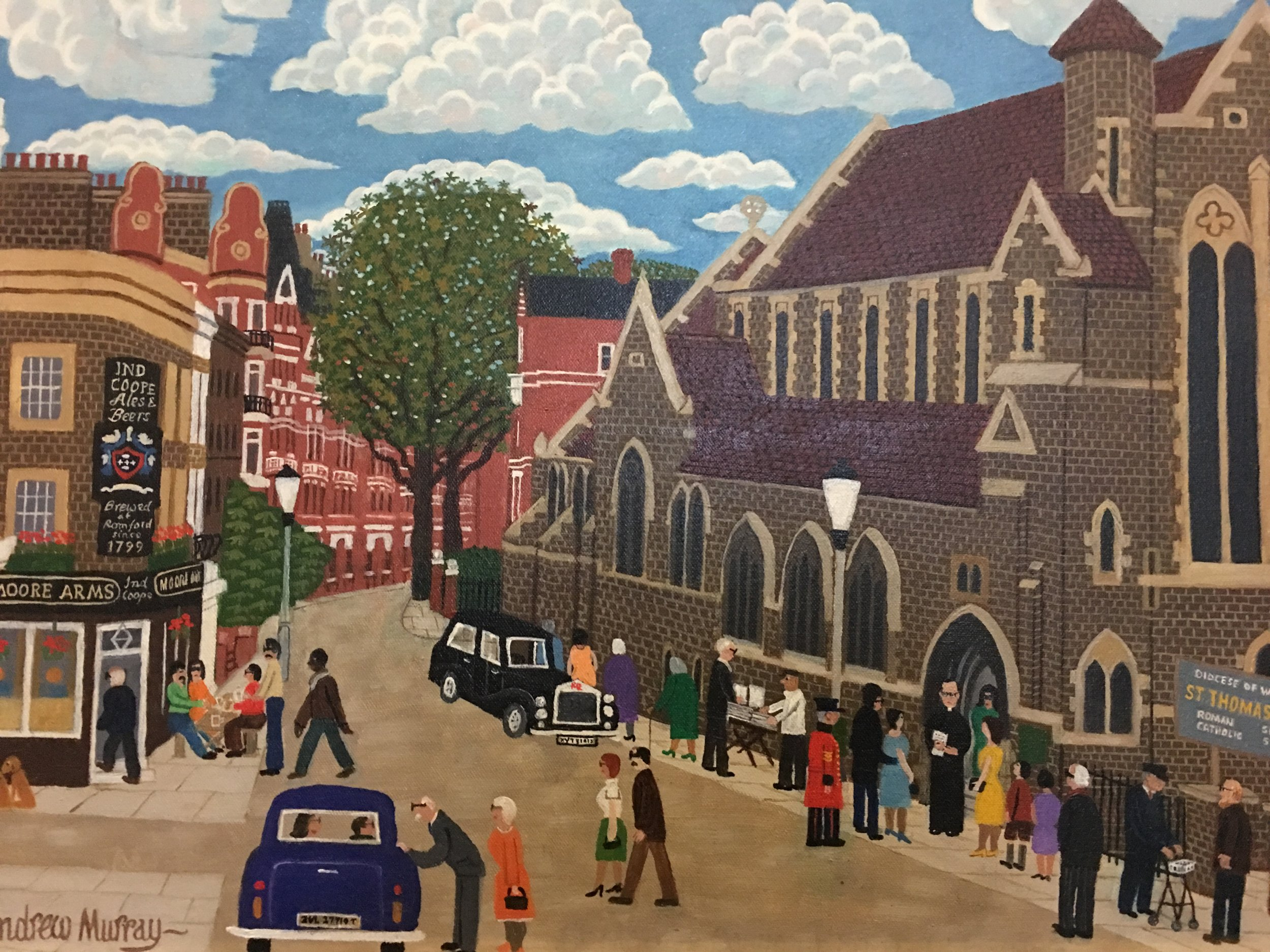 Andrew Murray's Oil Painting of St Mary's Chelsea